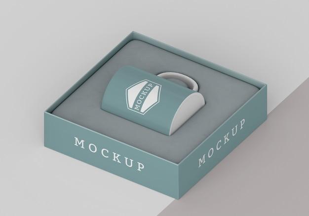 Auswahl an mock-up-becherboxen
