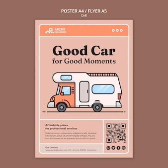 Autoverkaufsplakat oder flyer-designvorlage
