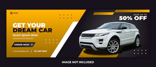 Autovermietung banner moderne web-vorlage premium