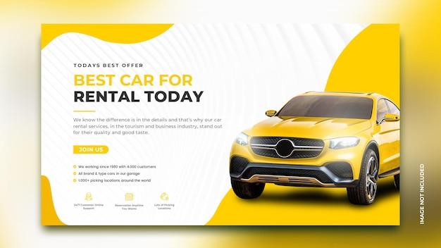 Autovermietung promotion social media post web banner vorlage hintergrund