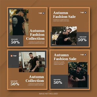 Autumn season sale instagram post bundle vorlage premium psd