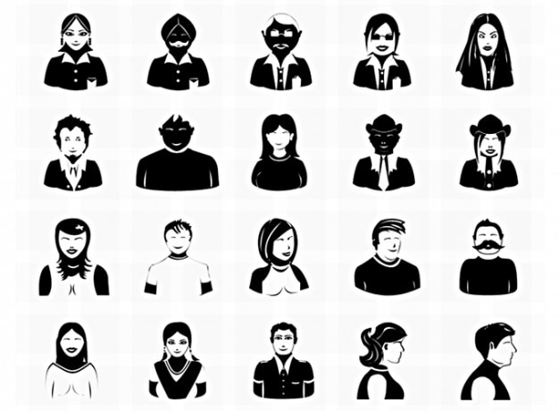 Avatar avatar icons icons vector icons