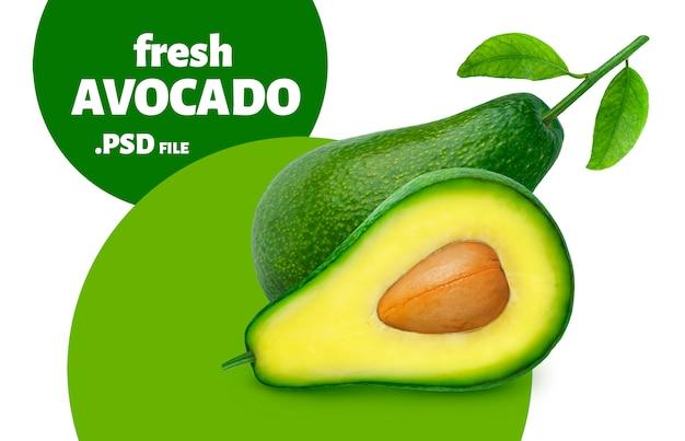 Avocado lokalisiert auf weißer wand
