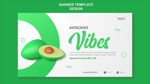 Avocado-vibes-banner-vorlagendesign
