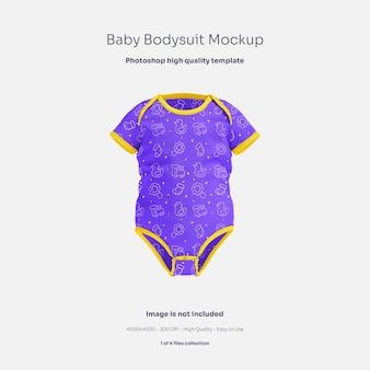 Baby body mit kurzen ärmeln mockup
