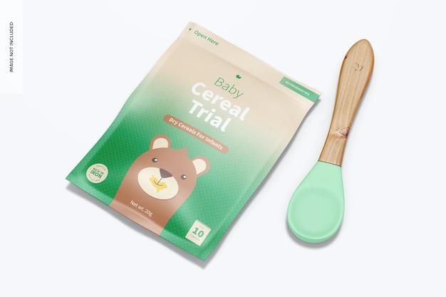 Baby-müsli-test-pack mit löffel-modell