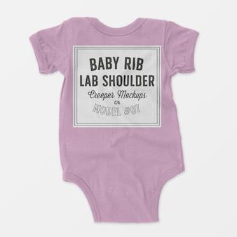Baby rib lap schulter creeper modell