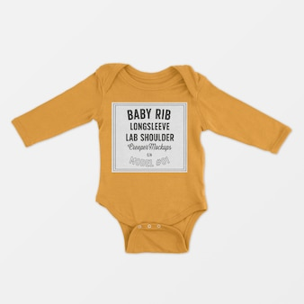 Baby rib longsleeve schoß schulter creeper modell
