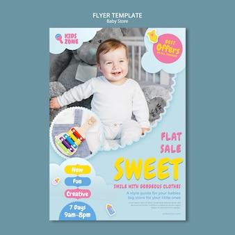 Baby store flyer vorlage