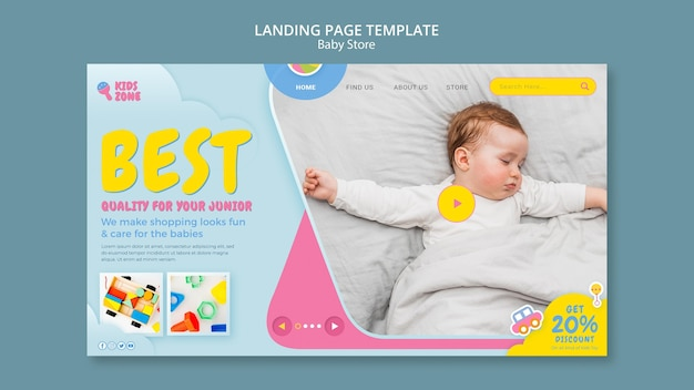 Baby store landing page
