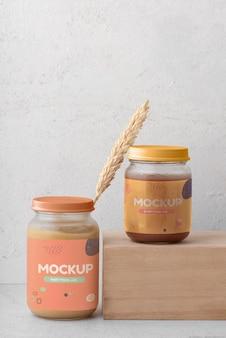 Babynahrungs-mock-up-arrangement