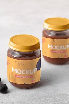 Babynahrungs-mock-up-sortiment