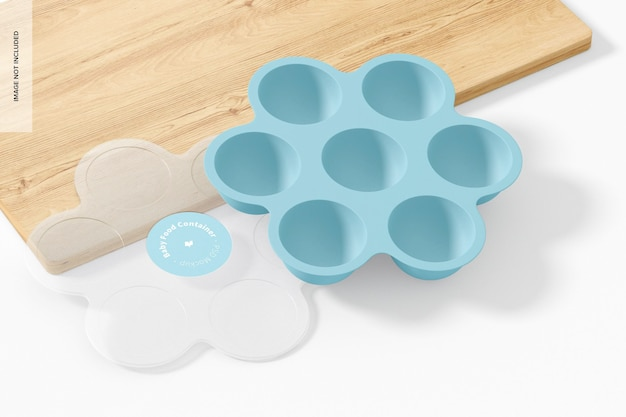 Babynahrungsbehälter-modell, geöffnet