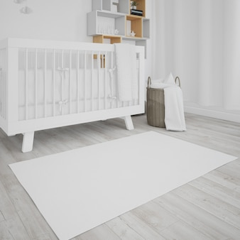 Babyzimmer mit weißer krippe