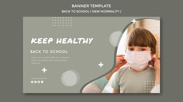 Back to school banner vorlage design