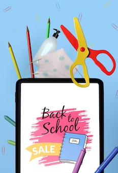 Back to school briefpapier modell