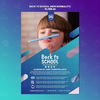 Back to school flyer vorlage