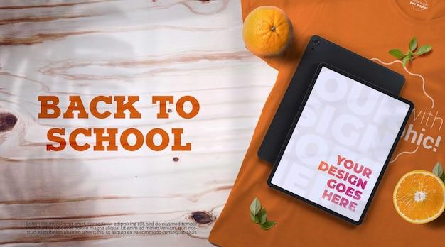 Back-to-school-modell mit geräten