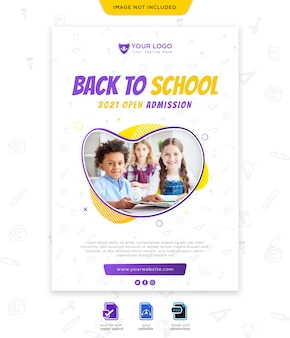 Back to school saison poster vorlage