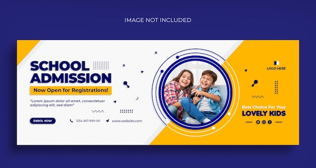 Back to school social media web banner flyer und facebook cover foto design vorlage