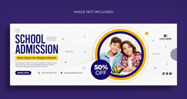 Back to school social media web banner flyer und facebook cover foto design vorlage