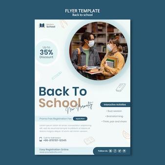 Back to school vertikaler flyer mit foto