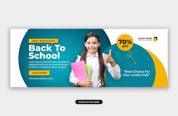 Back to school zulassung cover banner design-vorlage