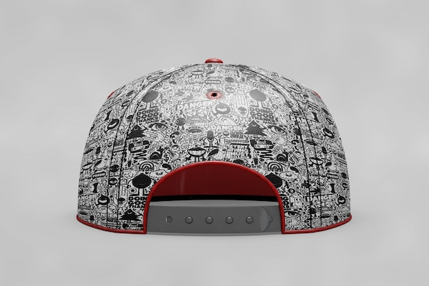 Backview baseball cap modell
