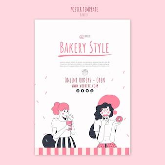 Bäckerei-anzeigenplakatschablone