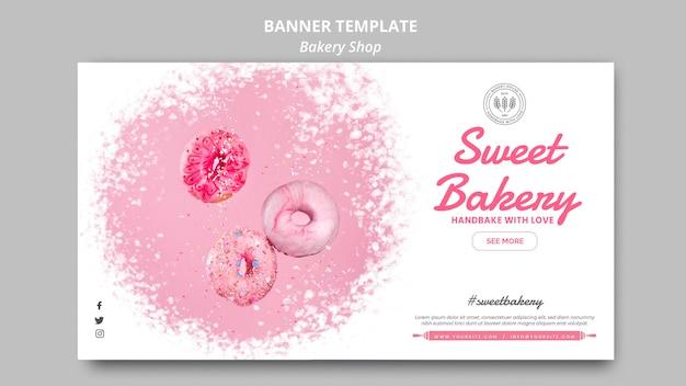 Bäckerei-banner-schablonenstil