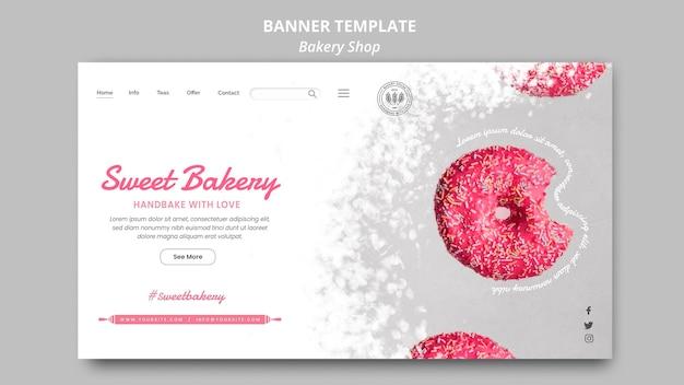 Bäckerei-banner-vorlage