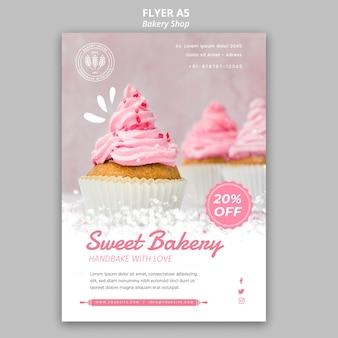 Bäckerei flyer vorlage