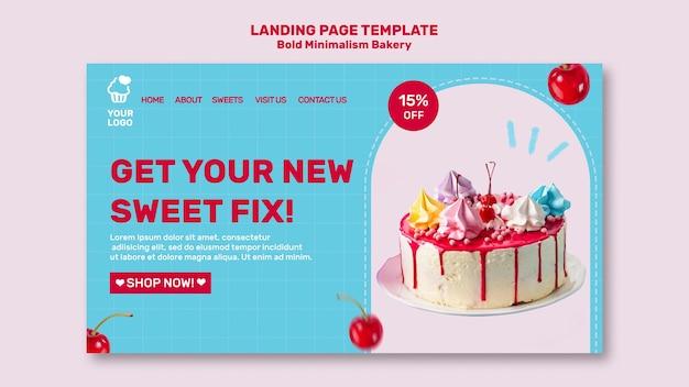 Bäckerei landing page vorlage