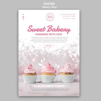 Bäckerei-plakatstil