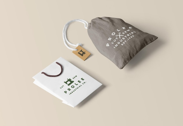 Bag mockups rendering isoliert