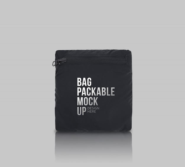Bag packable mockup-vorlage