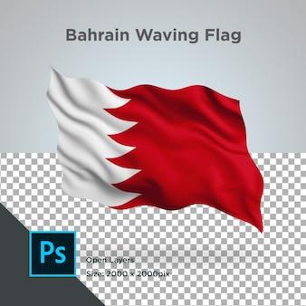 Bahrain flag wave transparent psd