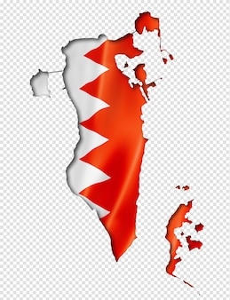 Bahrain flaggenkarte
