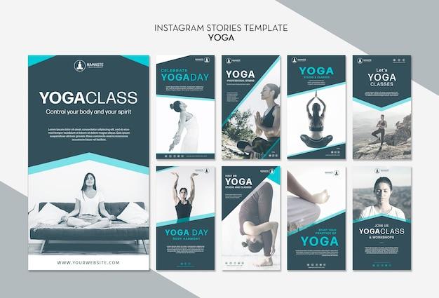 Balancieren sie ihr leben yoga-klasse instagram geschichten