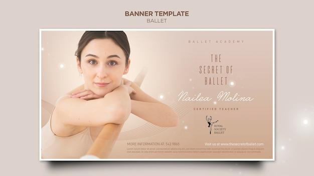 Ballerina konzept banner vorlage