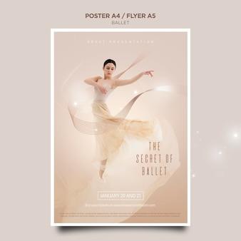 Ballerina konzept flyer vorlage