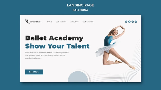 Ballerina landing page