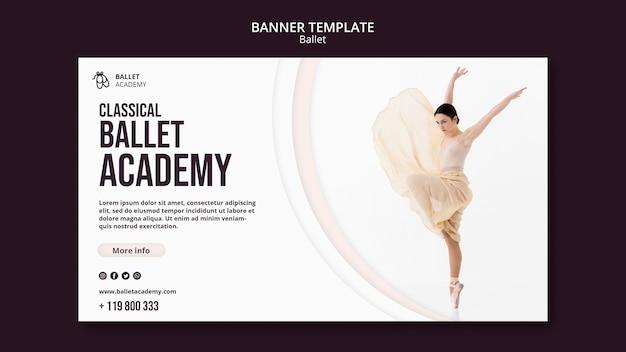 Ballett-konzept-banner-vorlage