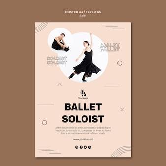 Ballett-konzeptplakatschablone
