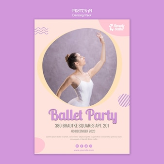 Ballett-tagesplakatschablone