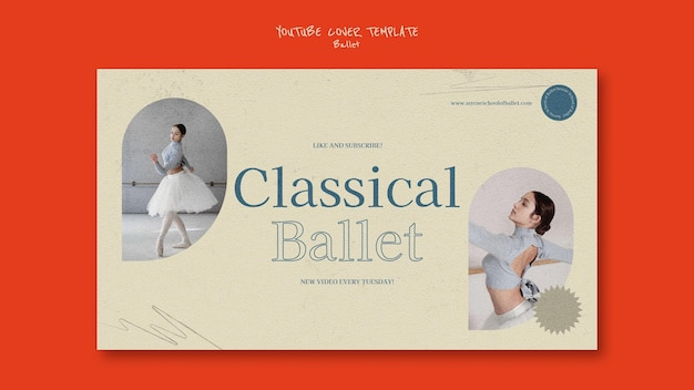 Ballett-youtube-cover-design-vorlage
