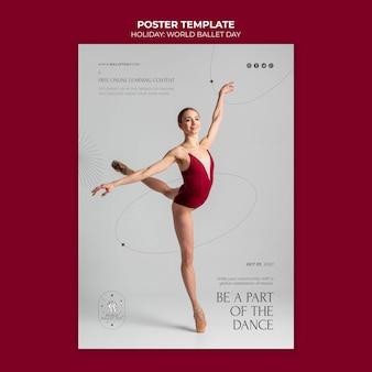 Balletttänzer-plakatvorlage