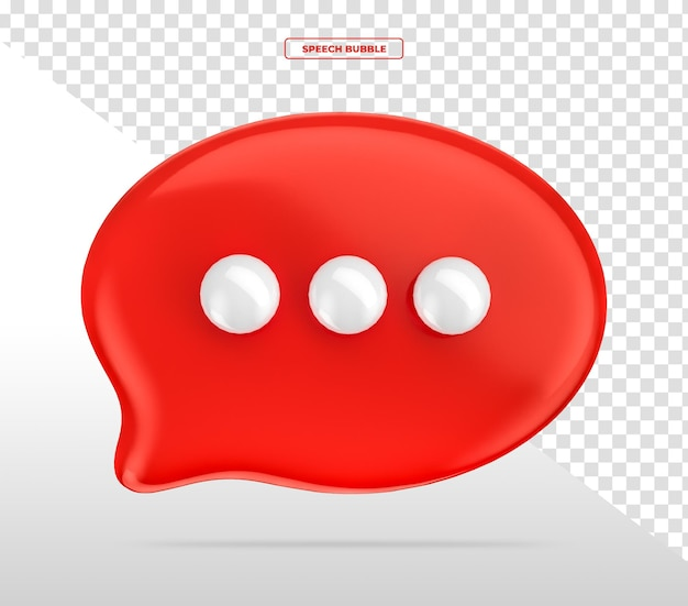 Ballon-sprechblase chat 3d-rendering