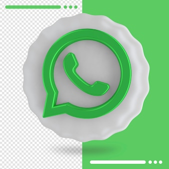 Ballon und logo von whatsapp 3d rendering