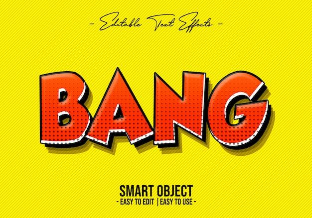 Bang text style effekt